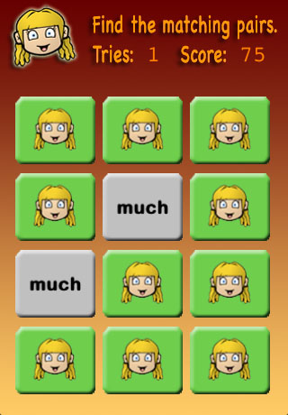 Screenshot Meghan's Matching Game 1st Grade